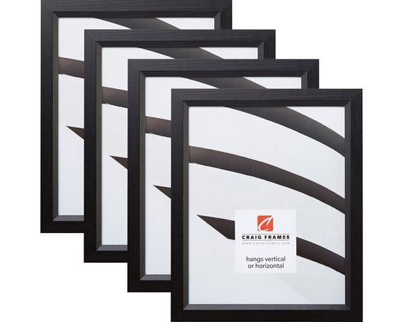 Craig Frames 11x17 Inch Black Wood Picture Frame Economy 1 Wide Set Of Four 7171610bk1117l 4 Craig Frames Wood Picture Frames Black Wood