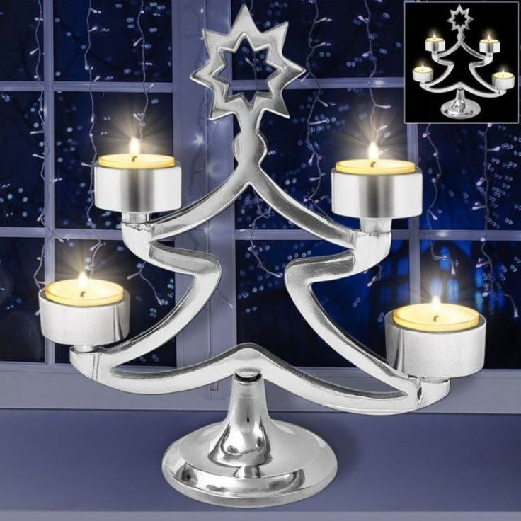 Advent Christmas Ornament Xmass Decor Winter Candle Holder Standing Tree Table #AdventChristmasOrnament