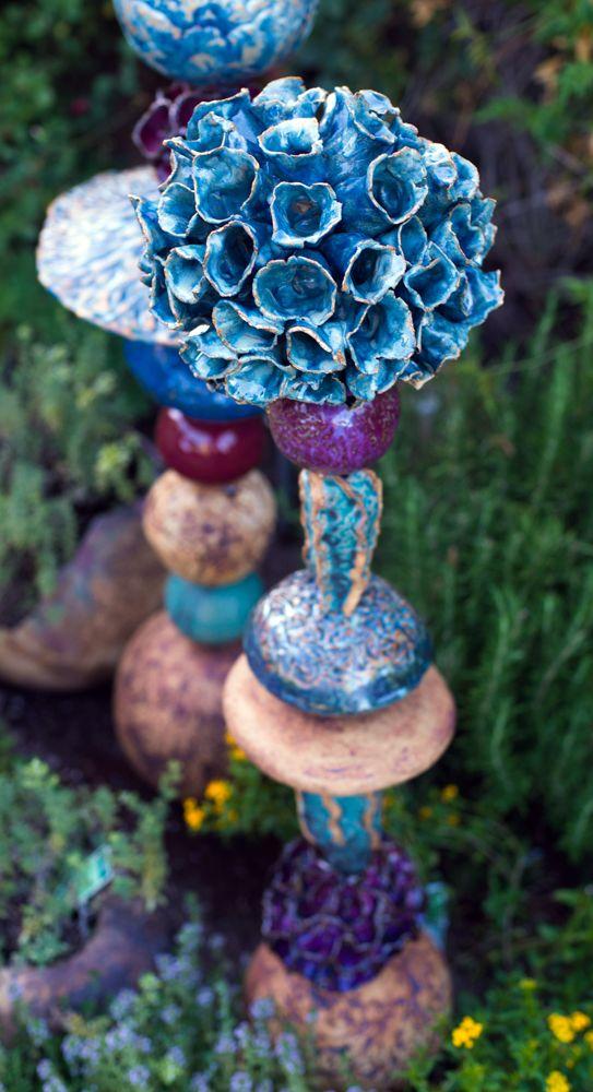 715 best garden art images on Pinterest Garden art, Pottery and - allium beetstecker aus metall