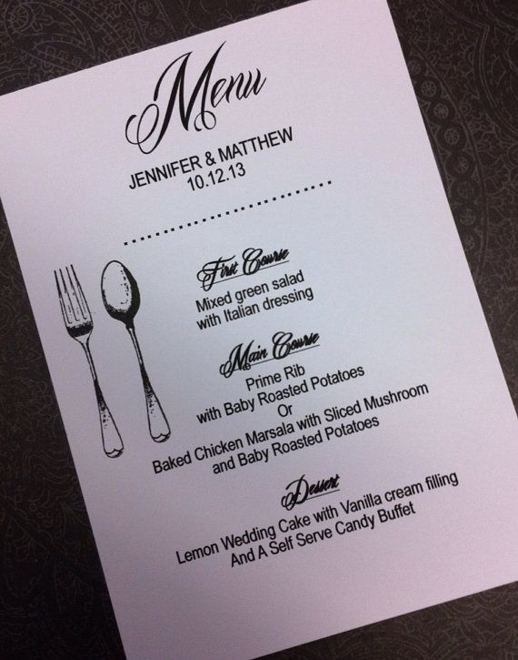 Special occassion Menu cards