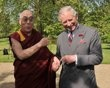 Tibet's exiled spiritual leader the Dalai Lama meets Britain's Prince Charles at Clarence House in central London