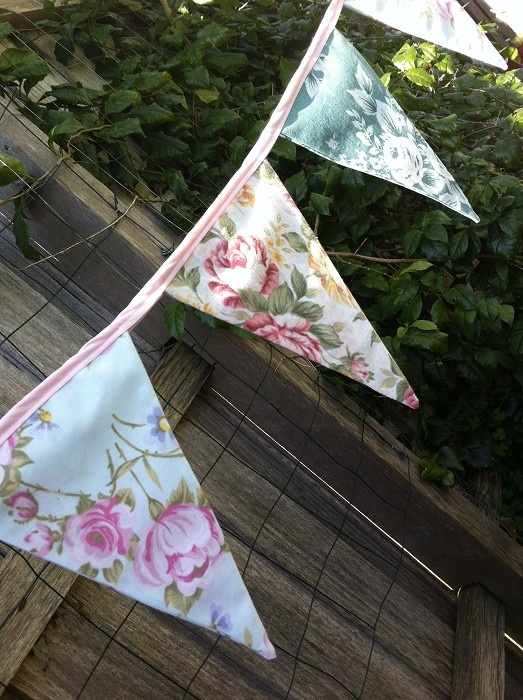 Vintage Inspired Floral Bunting Flags - by Polyanthus on madeit