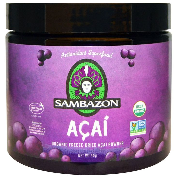Sambazon, Acai, Organic Freeze-Dried Acai Powder, 90 g