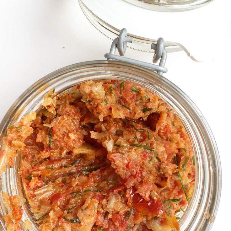 tapenade van geroosterde venkel en zongedroogde tomaten ofte vegan steak tartaar