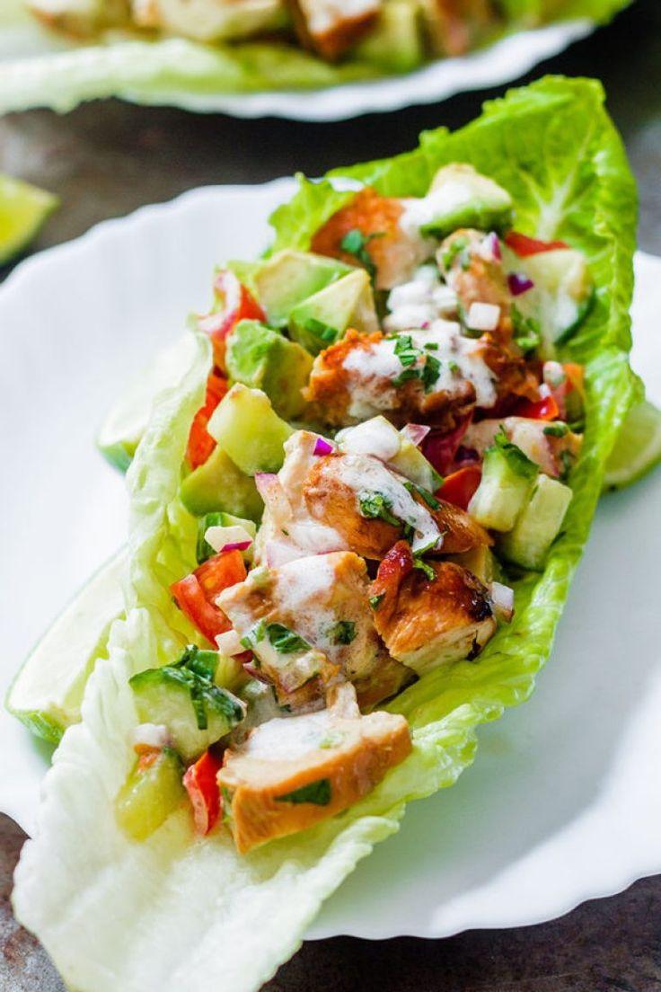 Chipotle Chicken Lettuce Wraps – 7 Tage einfache und köstliche Ketomahlzeiten …   – Keto food