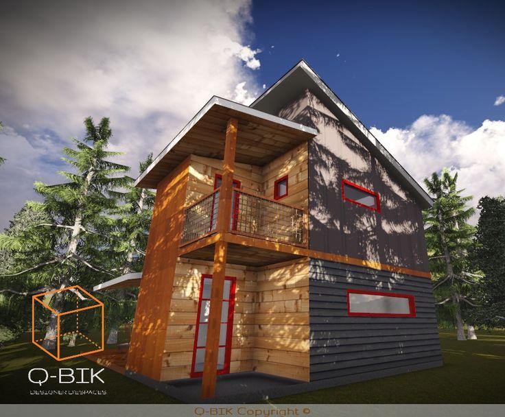 Mini maison 1200 pi² 2 chambres