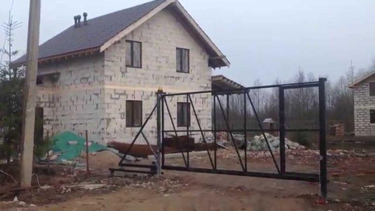 "Откатные ворота от ""СВ-Фундамент"" в проекте ""Все по уму на стройке"""
