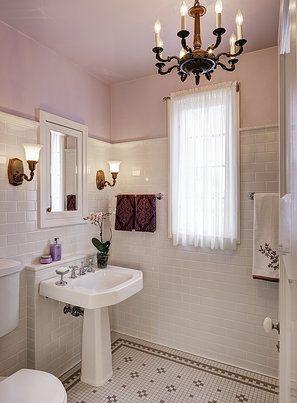 Leslie dohr interior design 1920 39 s bathroom remodel for Bathroom decor 1920 s