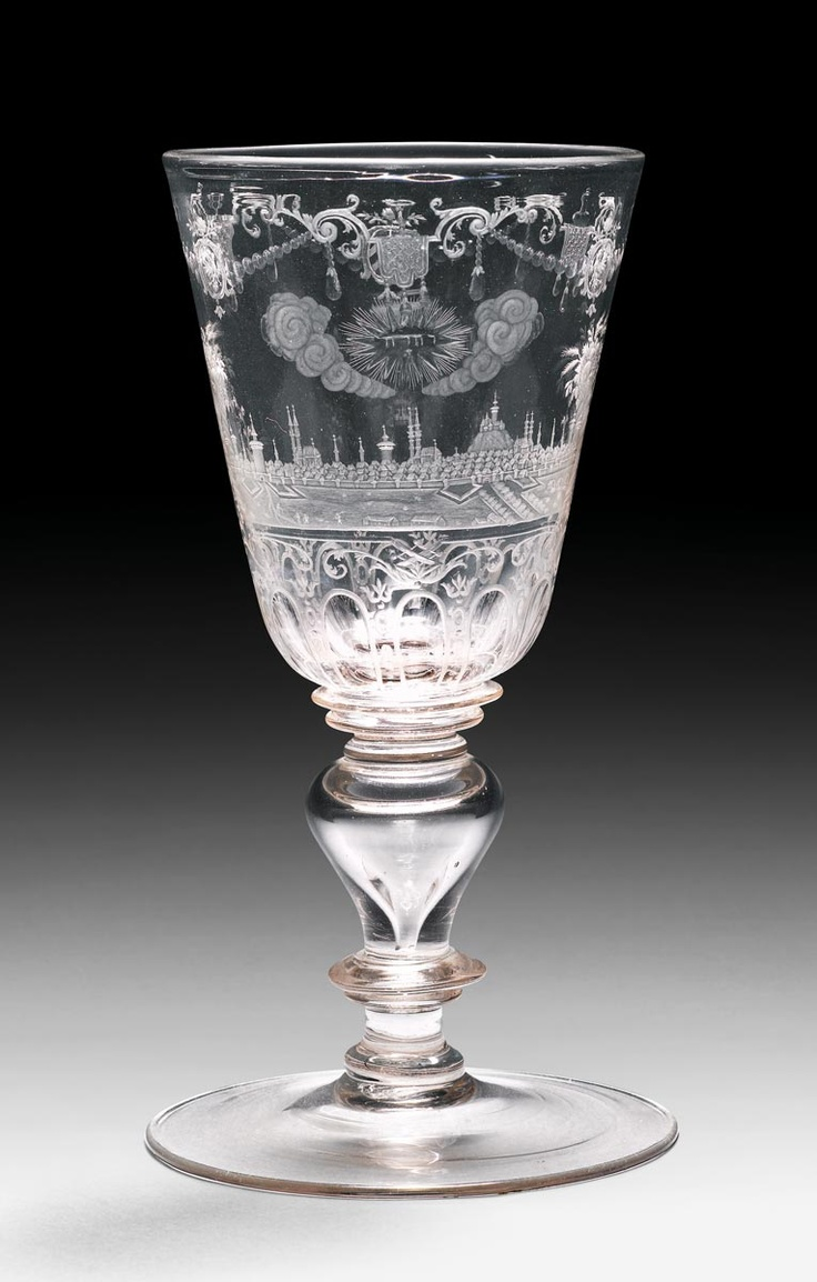 CHALICE,   baroque, Bohemia, 18th century.    Sold for CHF 33 00