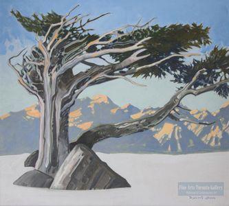 "Robert Genn - Kokanee Sky Pattern. Oil on canvas (20.0"" x 24.0"")"