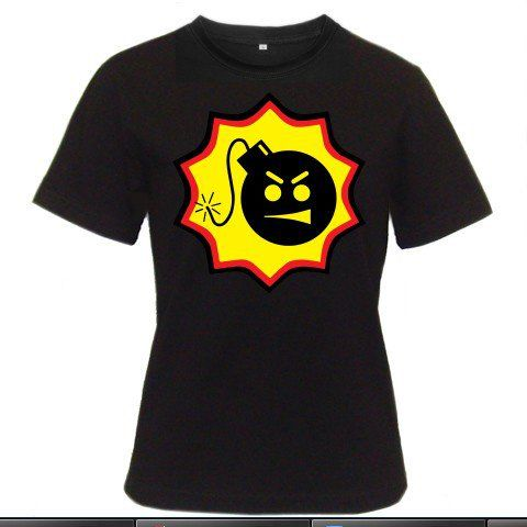 SERIOUS SAM BFE Logo Stone Doom Quake Xbox PS2 PC Game Double D Women Black T-Shirt Size S to 3XL