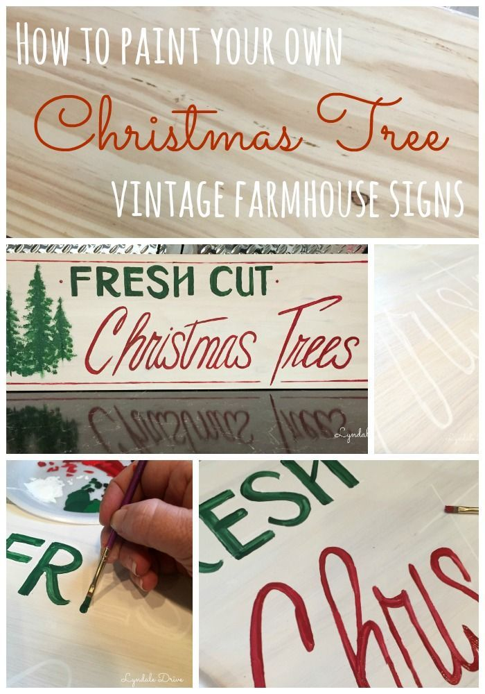 How to paint your own Fresh Cut Christmas Tree sign!