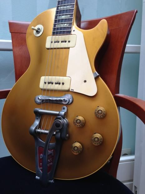 gibson 1954 reissue goldtop 2000 39 s gold top here is an upgraded r4 with original early 50 39 s. Black Bedroom Furniture Sets. Home Design Ideas