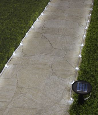 20-ft. Outdoor Solar Rope Path Light