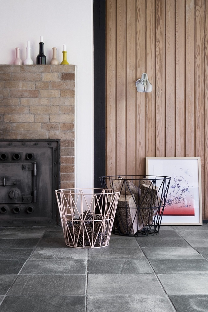 Wire Basket Medium Basket from ferm LIVING. #storage #basket #design