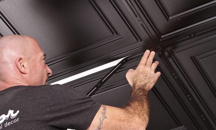 Stratford | Vinyl Drop Ceiling Tiles| Black 2x4 Ceiling Tiles