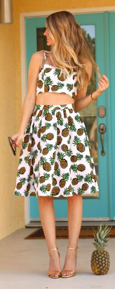 Pineapple Twin-set Outfit Idea by Ash N' Fashn