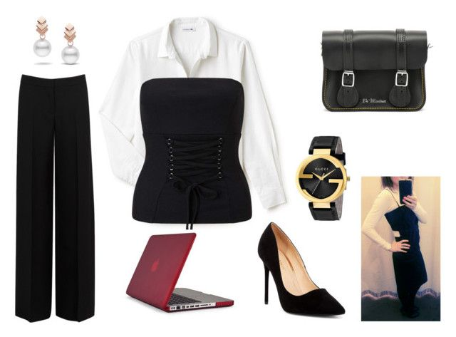 MAKE THE BLACK STRAPLESS TOP TRANS-SEASONAL by maimmelbourne on Polyvore featuring Lacoste, Alexander McQueen, Miss Selfridge, Liliana, Speck, Dr. Martens, Gucci and Escalier