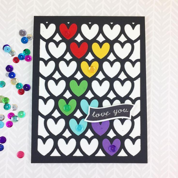 Sharp Designs: Rainbow hearts