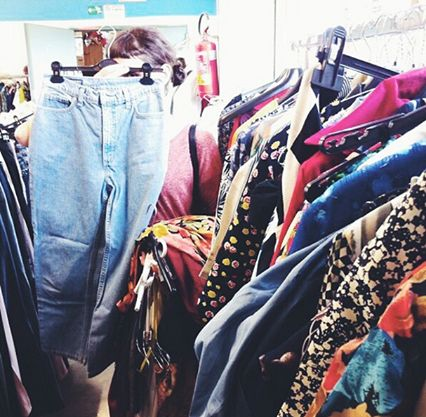 Stock of Vintage clothes -  Clothes everywhere!