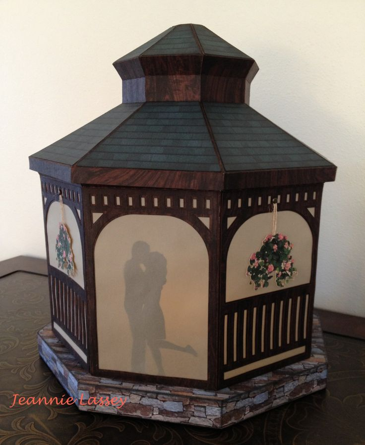 """Made with """"Winter Gazebo"""" kit from svgcuts.com. I purchased this file. Can hardly wait to create this."""
