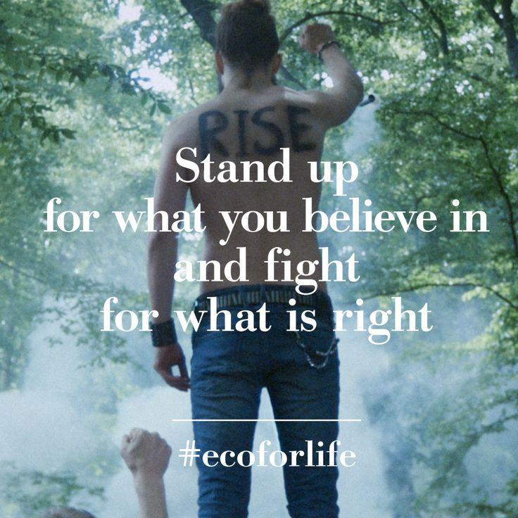 Stand up. #ecoforlife