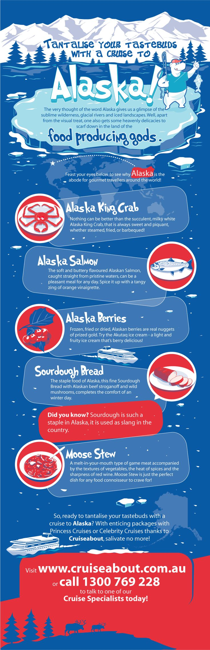 Tantalise your tastebuds with a #cruise to Alaska! #traveltips