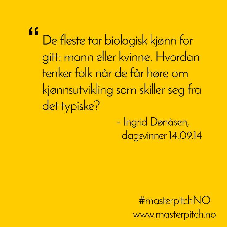 #dagenspitch 14.09! Gratulerer Ingrid Dønåsen!
