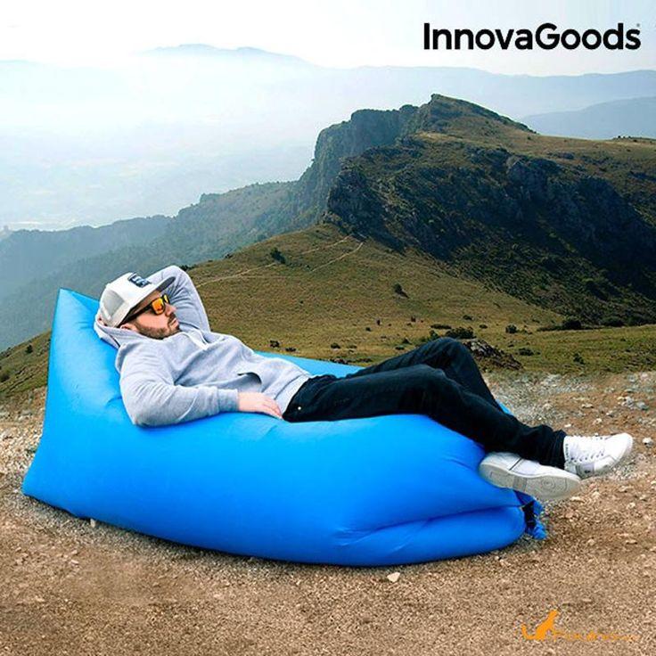 Chaise longue auto gonflable :Préparez l'été avec cette pratique et originale chaise longue auto-gonflable : gadget Cool ! Parfaite pour se reposer confortablement lors des sorties à la montagne, au camping, à la plage, à la piscine, aux festivals en plein air, etc. Elle est également  idéale comme fauteuil ou lit d'appoint.