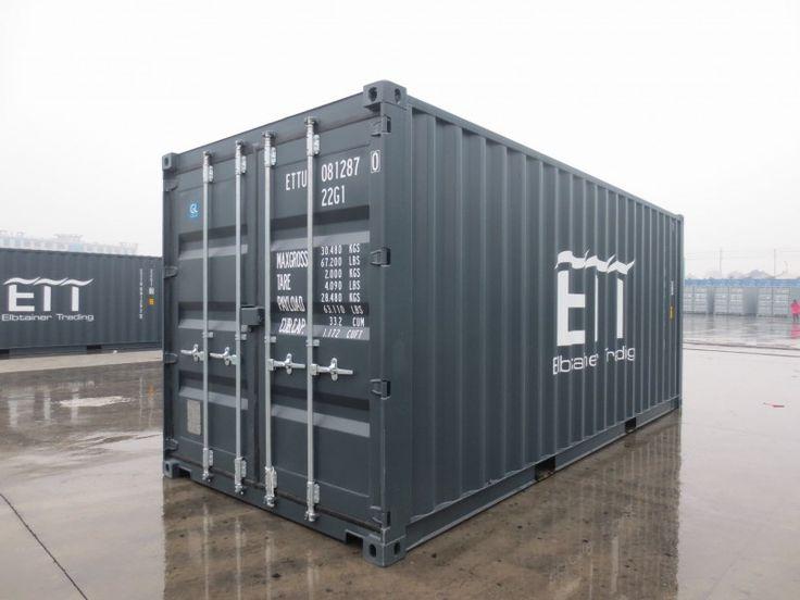 Neuer 20ft DV Container in grau
