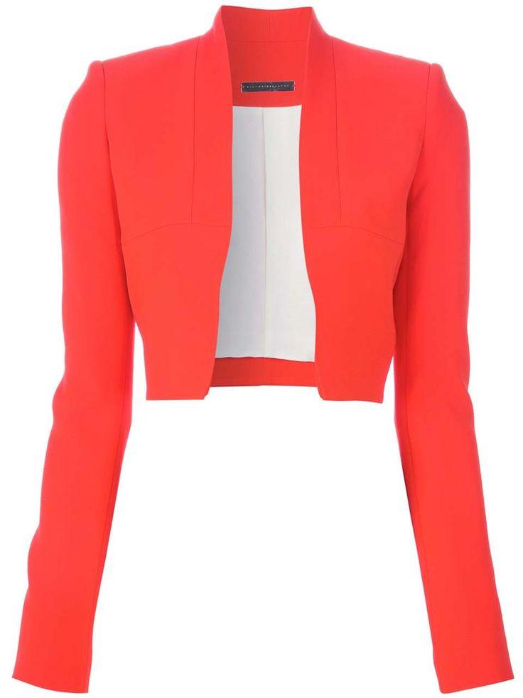 Womens red blazer jacket
