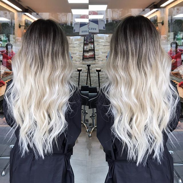 Hair Color Trends 2019 With Images Black Roots Blonde Hair