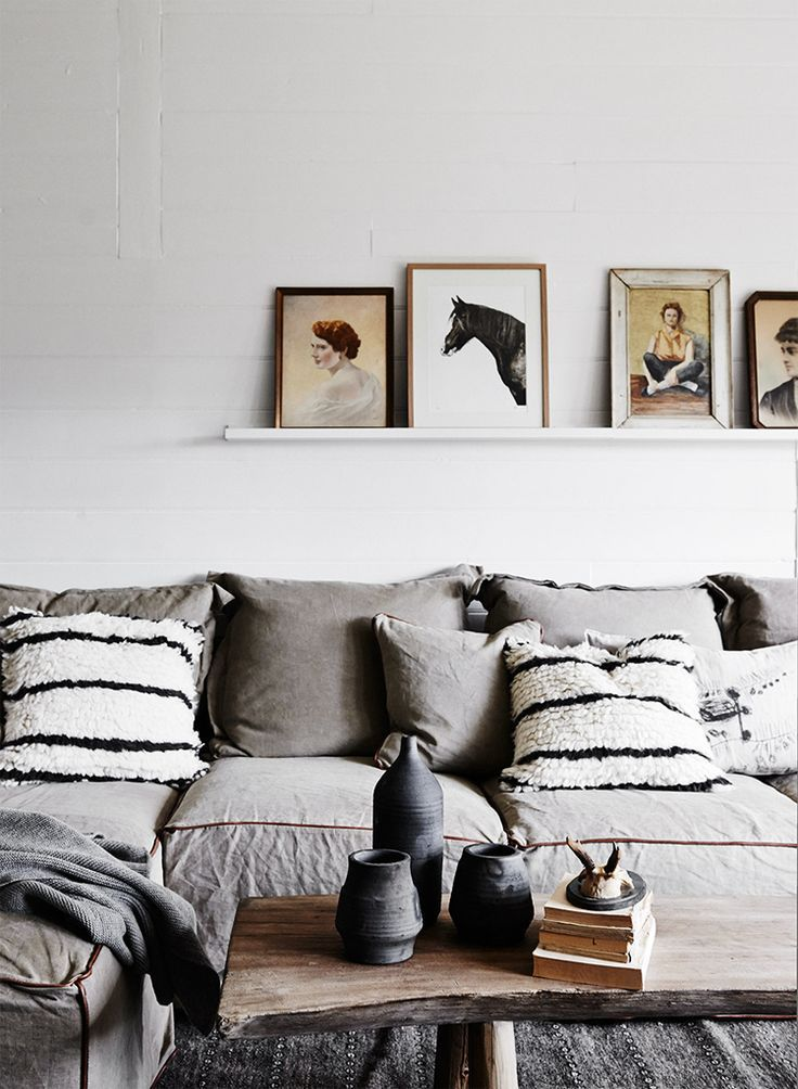 Love the tones and textures #livingroom