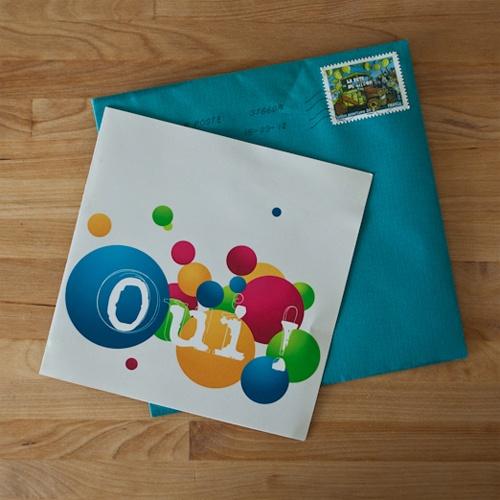 Faire part mariage invitation couleurs bulles peps