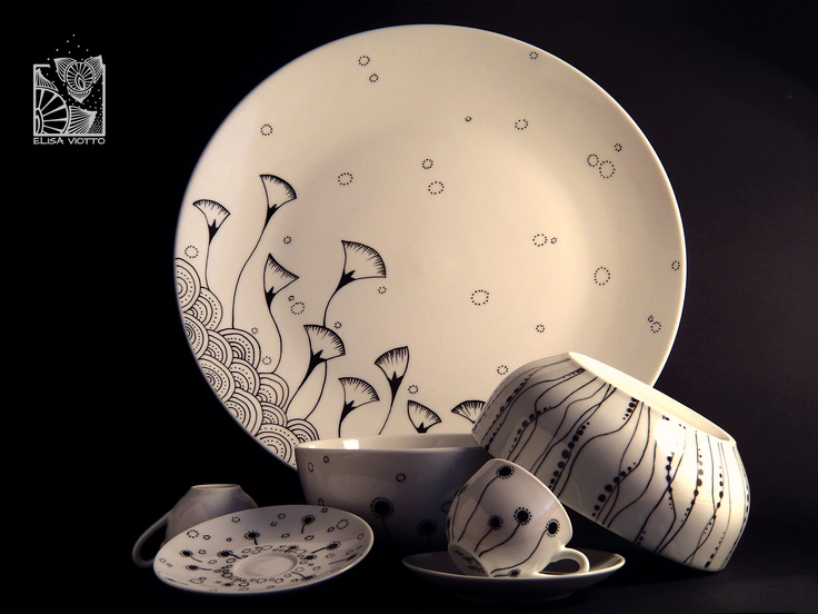 Elisa Viotto Pottery Hand painted