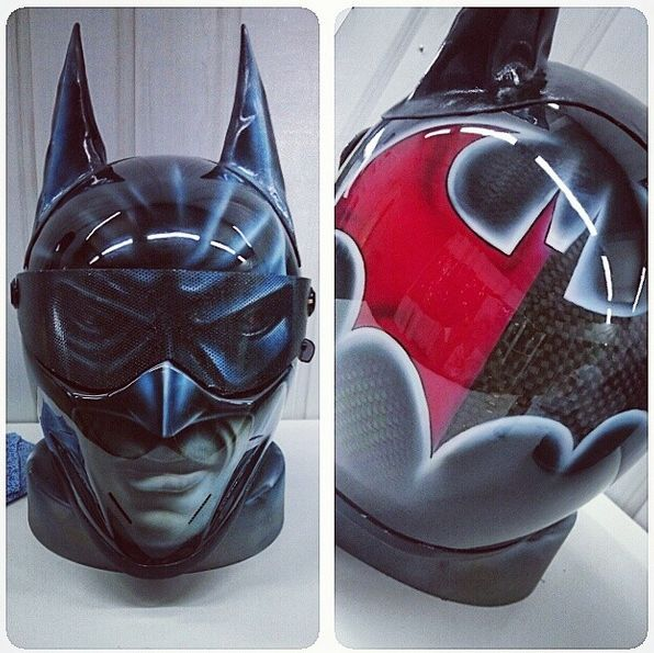 Batman airbrushed helmet