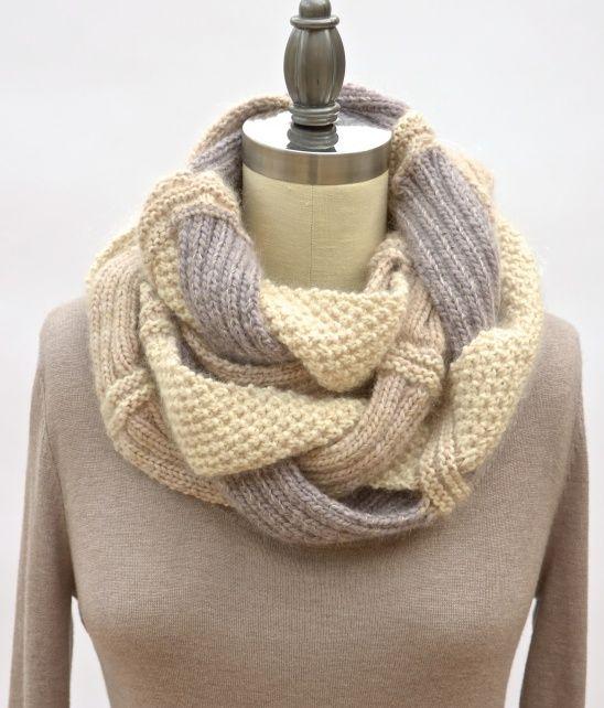 Challah Infinity Scarf by Pam Powers | Project | Knitting / Scarves, Shawls, & Cowls | Kollabora #diy #kollabora #knitting #scarf