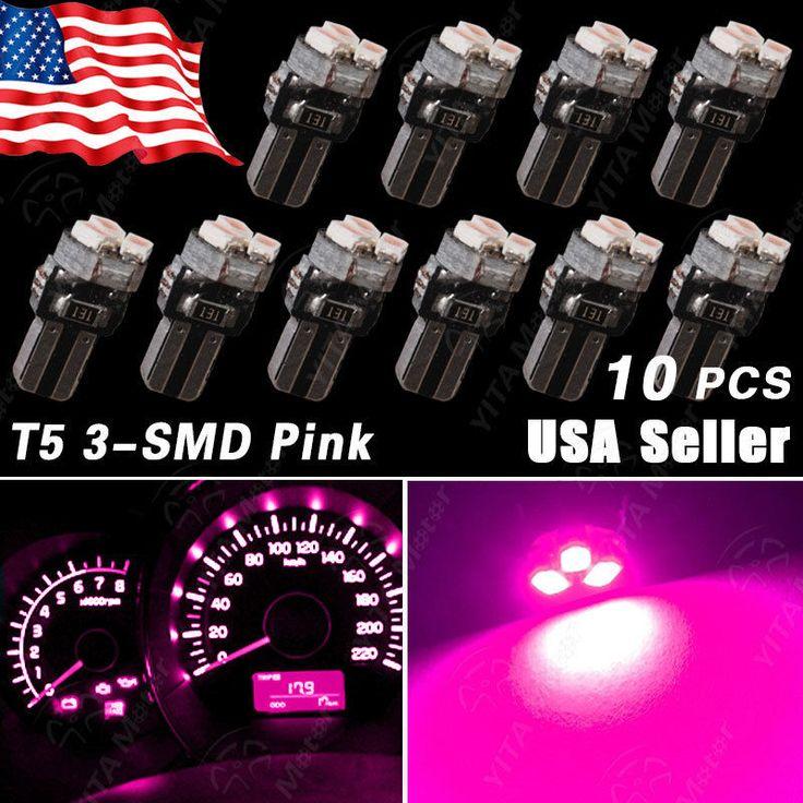 10X Purple Pink T5 3-SMD LED Bulbs Dashboard Gauge Side Door Light 74 2721 17 18 in eBay Motors, Parts & Accessories, Car & Truck Parts | eBay