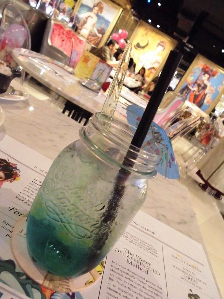 Saranghae Grape Fruit Soda #koreangrape #gingerale #soda #basilseed
