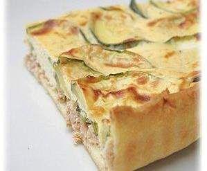 Recette Tarte thon et courgettes par solfea - recette de la catégorie Tartes et tourtes salées, pizzas
