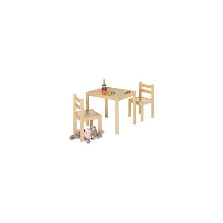 Geuther Комплект игровой мебели Kalle&Co (стол и 2 стула), Geuther  — 11640р.  Комплект игровой мебели Kalle&Co (стол и 2 стула), Geuther  Характеристики: - В комплект входит: 2 стула, 1 стул - Материал: дерево/металл - Размер стола: 53 * 64 см., высота 55 см. - Высота стульев: 32 см. Комплект игровой мебели Kalle&Co от немецкого бренда товаров для безопасности детей Geuther (Гётер) поможет создать ребенку свое пространство для игр и творчества. Лаконичный стол и два стула в комплекте…