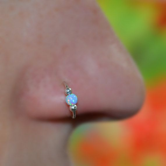 opal nose ring