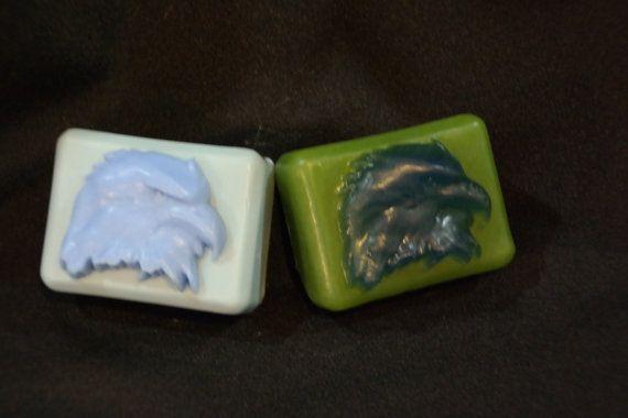 2 Two Eagle Soap  bird soap  rustic decor by AlaskaMomSoapBalm