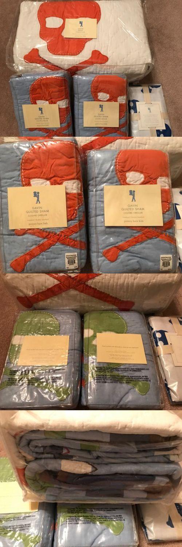 Kids Bedding: New Pottery Barn Kids Gavin Skull Crossbones Full Queen Quilt Shams -> BUY IT NOW ONLY: $299.0 on eBay!