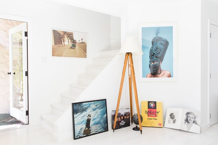 Before & After: A Stunning Transformation We're Pinning Like Crazy #refinery29  http://www.refinery29.com/small-space-makeover#slide-11  The staircase leads up to the second floor master suite....