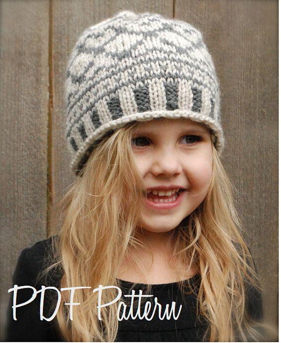 Knitting PATTERNThe Valyn Hat Toddler Child por Thevelvetacorn