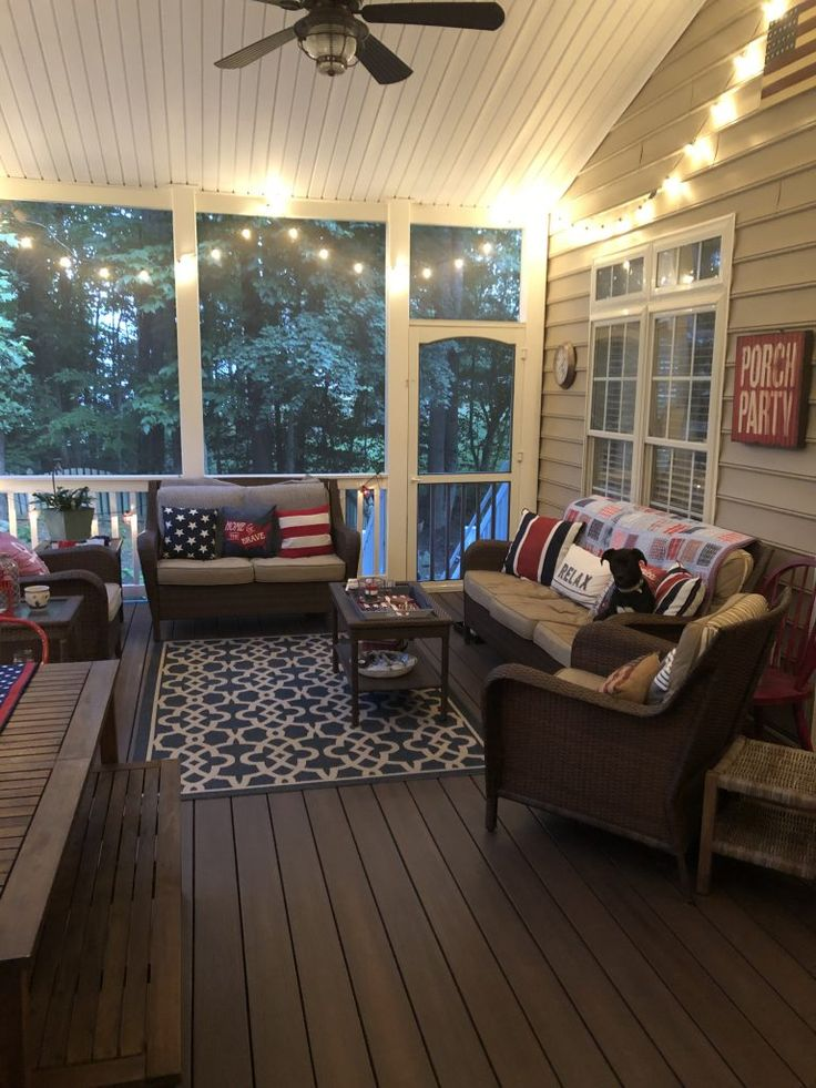 Summer Screened Porch Tour