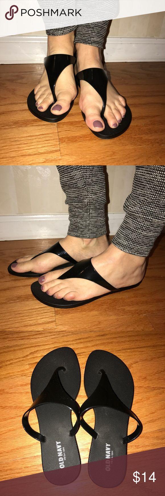 Black sandals old navy - Old Navy Flip Flops