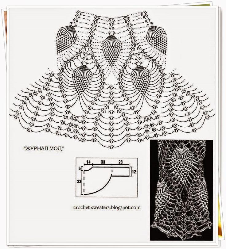 Agulhas Encantadas: Blusa de crochê