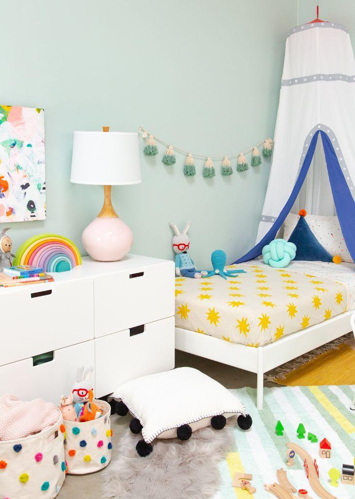 A Gender Neutral Shared Kids Room Oh Joy Kids Bedrooms Colors Unisex Kids Room Kids Room Wall Color